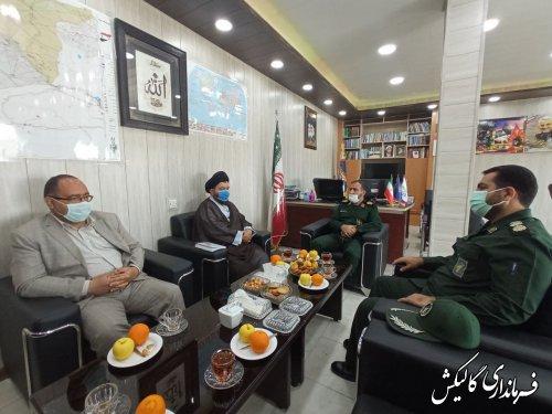 دیدار فرماندار گالیکش با فرمانده سپاه نینوا گلستان