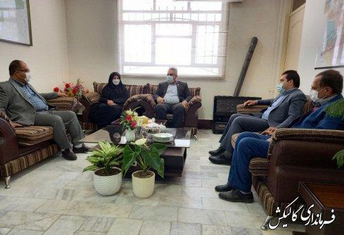 دیدار مدیرکل دفتر امور شهری و شوراها استانداری گلستان با فرماندار گالیکش