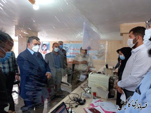 بازدید فرماندار گالیکش از روند ثبتنام داوطلبان انتخابات شورای اسلامی روستاها