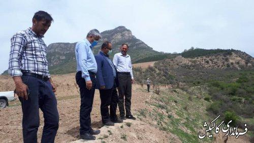 بازدید فرماندار گالیکش از روند آبرسانی به روستای قوشهچشمه این شهرستان