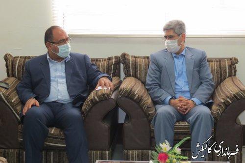 دیدار مدیرکل تأمین اجتماعی گلستان با فرماندار شهرستان گالیکش