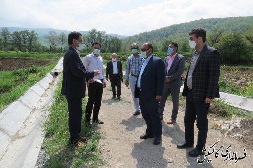 پیشرفت ۸۰درصدی پروژه تجهیز و نوسازی اراضی کشاورزی بشاویلی شهرستان گالیکش