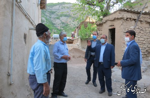 دیدار و دلجویی فرماندار گالیکش با خانواده شهید و محرومین روستای فرنگ