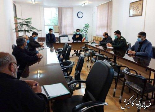جلسه پیشگیری از وقوع جرم با محوریت جرائم انتخاباتی در شهرستان گالیکش برگزار شد