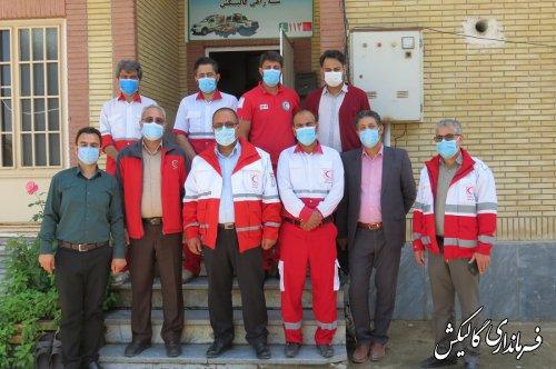 دیدار صمیمی فرماندار گالیکش با امدادگران پایگاه امدادونجات سهراهی گالیکش-کلاله