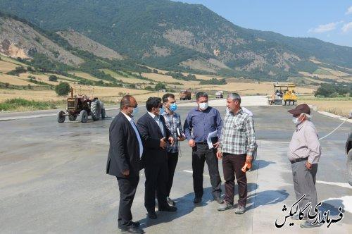 بازدید فرماندار گالیکش از روند اجرای پروژه تعریض محور گالیکش-تنگراه