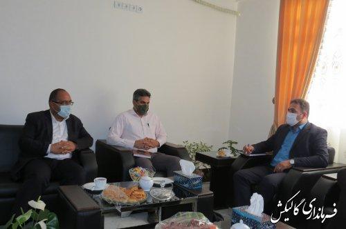 دیدار رئیس جهاد دانشگاهی گلستان با فرماندار گالیکش