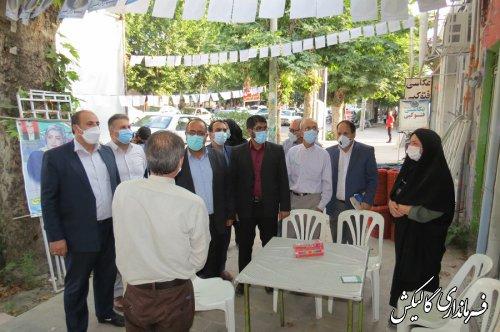 بازدید فرماندار گالیکش از ستادهای تبلیغاتی نامزدهای انتخابات
