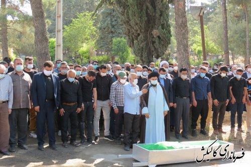 پیکر معاون فقید سیاسی و اجتماعی فرماندار گالیکش تشییع و به خاک سپرده شد / گزارش تصویری