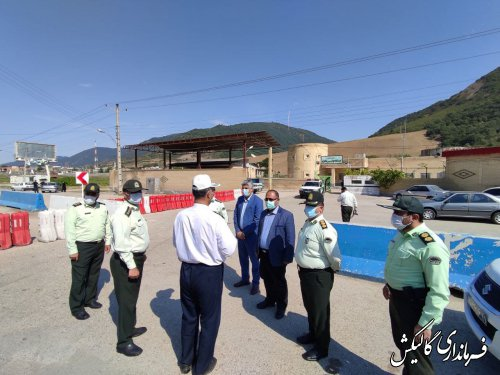 بازدید فرماندار گالیکش از اجرای محدودیتهای کرونایی در ایستوبازرسی تنگراه