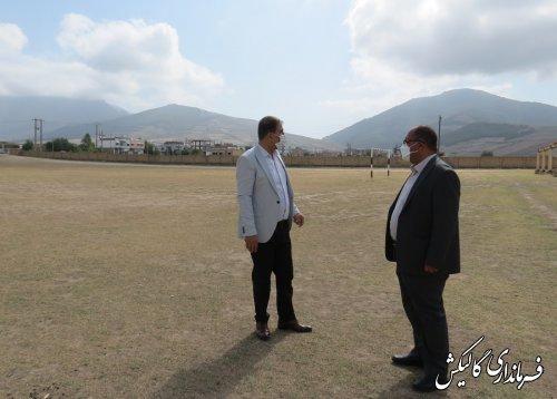 بازدید مشترک فرماندار و رئيس ورزشوجوانان گالیکش از برخی اماکن ورزشی نیمه تمام شهرستان