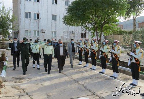 صبحگاه مشترک نیروهای نظامی و انتظامی در گالیکش برگزار شد