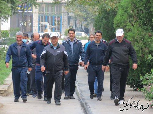 ورزش صبحگاهی مدیران شهرستان گالیکش برگزار شد